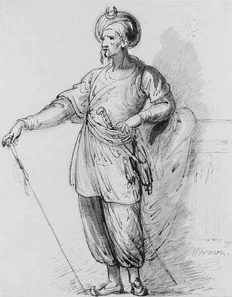 Figure In eastern Costume